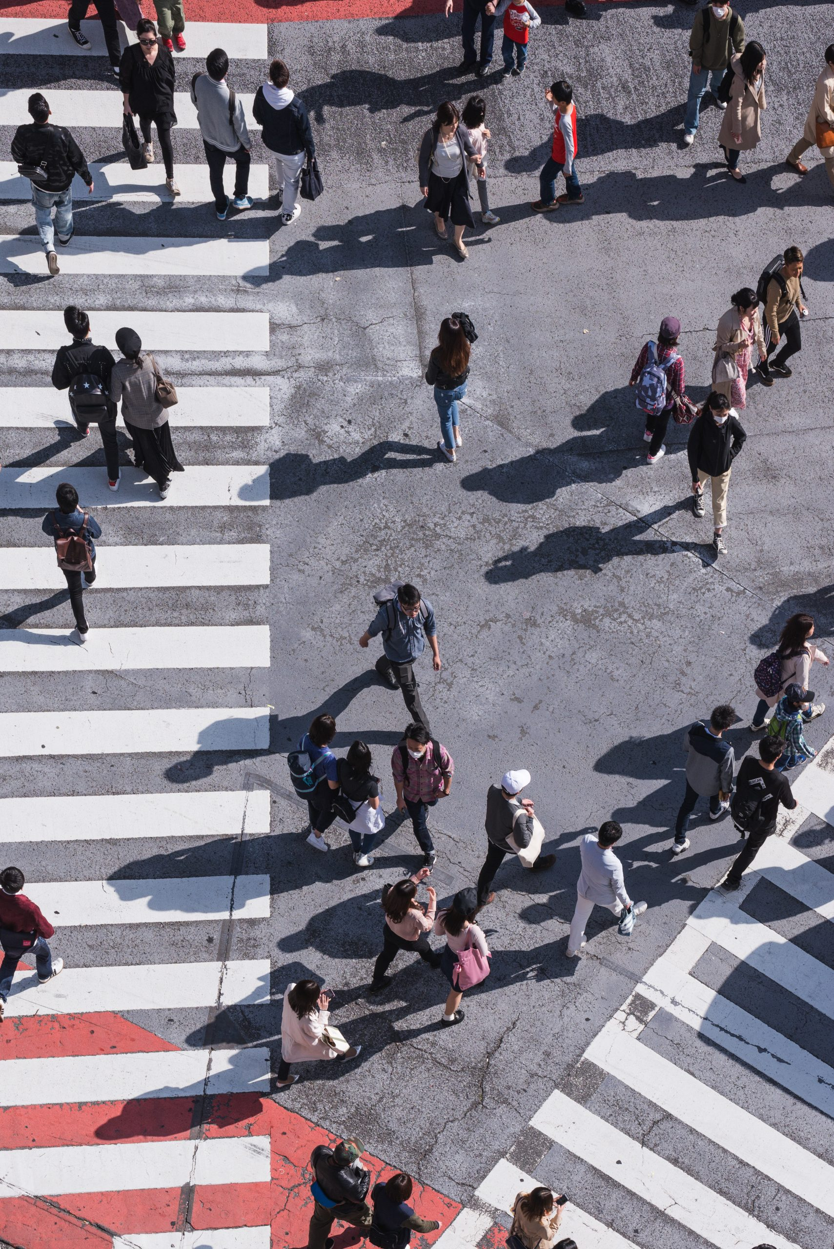 people on the crossing